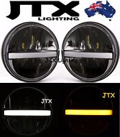 JTX STRIPPA LED Headlight Lights White Strip flashes AMBER for Nissan GQ Patrol