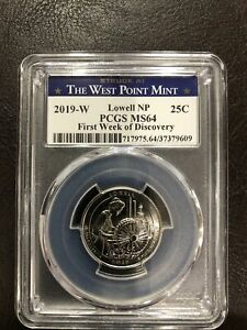 2019-W Lowell NP PCGS MS64 First Week Of Discovery Rarest! Hard To Find Perfect