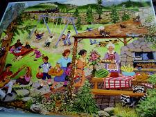 """300 Piece Art Puzzle """" Picnicin the Park"""" Large Format New 18"""" x 24"""""""