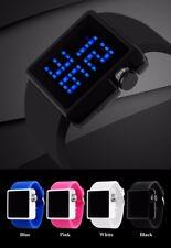 Unique Men's Boy Fashion Sports LED Date Rubber Band Quartz Digital Wrist Watch