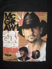 "2015 Tim McGraw ""Shot Gun Rider"" Concert Tour (Med) T-Shirt Billy Currington"