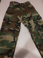 Woodland Camo BDU Cargo - Mens Military Camouflage Pants Size Extra Small/Short