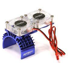 Integy T8534BLUE Aluminum Motor Heatsink + Twin Cooling Fan Traxxas Slash 4X4
