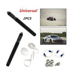 2Pcs Black CNC Universal Car Racing Sport Engine Bonnet Hood Pin Lock Part Kit