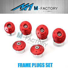 6pcs Red CNC Frame Plugs Fit Ducati Monster 1200 R 15 16