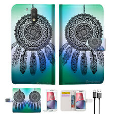 Dream Catcher Wallet TPU Case Cover For  Motorola Moto G5 Plus -- A026