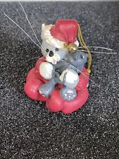 1992 Mini Munchkins Possible Dreams Ornament / Santa Cat & Mouse