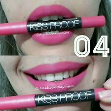 No 4 MeNow KISS PROOF Powdery Matte Soft Lipstick Lip Crayon (Coral Barbie Pink)