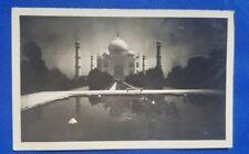 Vintage Postcard: Taj or Tomb of Emperor Shahjahan and Queen Mumtaz Mahal.