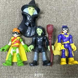 3X Imaginext DC Super Friends Batgirl Robin Carrie Kelley Wicked Witch Figures