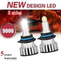 4-Sides CSP 9006/HB4 LED Headlight Bulbs Kit 2600W 460000LM Mini Fog Lamp 6000K