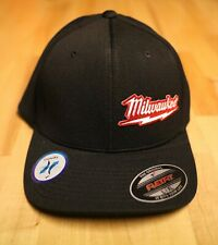 Milwaukee M18 Fuel Power Tools Logo Flexfit Black Patch Hat - Fitted S / M