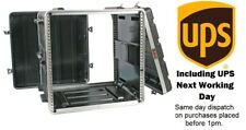 """10U ABS 19"""" Rack Flight Case. Front and Rear Rackstrip. Next Working Day Del'"""