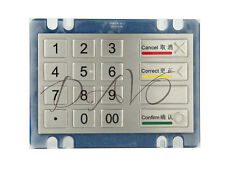 16 Full Travel Button Metal Keys Numeric Keypad For Ticket Machines