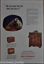 1942 RCA VICTROLA advertisement, model V-215 cabinet set, 36-X and 25-BP radios