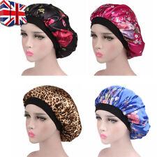 Women Floral Silk Night Sleep Cap Hair Bonnet Hat Head Cover Satin Turban Wrap B
