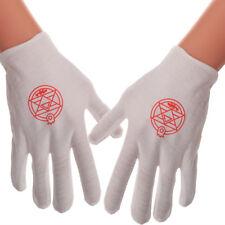 Hot Anime Fullmetal Alchemist Edward Magic Gloves Cosplay Costume Accessory