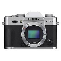 Fujifilm X-T10 Mirrorless Digital Camera Body Silver Wi-Fi