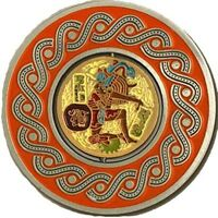 MAYAN BALL PLAYER - 2in SPINNER GEOCOIN Ant.Sil U/T NEW