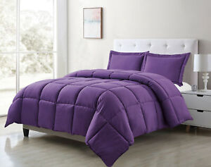 All Season Down Alternative Comforter+Sham Bedding Set Hypoallgenic PolyFiber