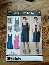 SIMPLICITY CYNTHIA ROWLEY SEWING PATTERN * K2443 * DRESS & JACKET * UK 6-14