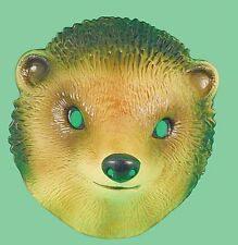 Plastic hedgehog farm animal face mask Miss Tiddlywinks costume accessory