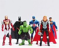 MARVEL SUPER HEROES - Set de 6 Figuras Los Vengadores, Batman, Superman