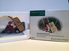 "Department 56 North Pole Series Delivering Real Plastic Snow # 56435 2"" W/box"