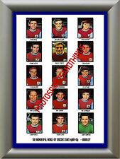 BURNLEY - 1968-69 - REPRO STICKERS A3 POSTER PRINT