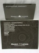 New! Open & Blank MAURICE LACROIX Swiss Watch International Warranty Book & Card