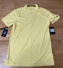Nike Tiger Woods TW Vapor Stripe Golf Polo Bq6722-703 Chrome Yellow Sz XL