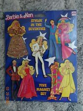 Barbie Five Magnet Set ''Stylin in the Seventies'' Nrfp