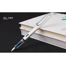 Wing Sung 6359 Silver Metal Fountain Pen Push Extra Fine Nib EF/0.38mm Writing