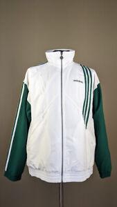 Vintage '90s Adidas Mens Tracksuit Wind Suit Teal White Green Pants Jacket L
