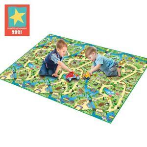 Eduk8 Zoo Activity Floor Play Mat - Fun Animal Learning Homeschool Game /120x200