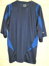 SIMPLY FOR SPORTS Men's Athletic Fitness Short Sleeve Shirt Blue & Navy Size L