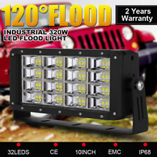 10inch 320W LED Driving Light Bar FLOOD Light Heavy Duty Mining & Industrial 4x4
