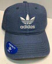 ADIDAS ORIGINALS RELAXED ADJUSTABLE STRAPBACK BLUE HAT C153