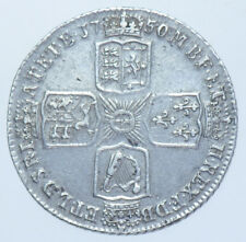 1750 SHILLING BRITISH SILVER COIN FROM GEORGE II aEF