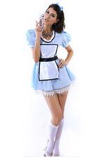 Alice in Wonderland Blue Women's Fancy Dress Costume incl Headbow Size 8-10