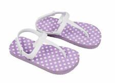NEW Toddler's Rubber Flip Flops - Purple/ White Polka Dots - Size L 9T/10T