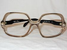 Vintage 1980's Studio -125 Eyeglass Frames TRANSLUCENT FRONT/ Black Signed 54-20