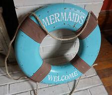 New listing Mermaids Welcome Life Saver Preserver Ring Nautical Beach Home Decor Sign New