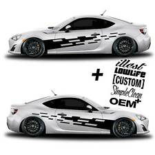 vinyl body GRAPHICS tuning tear car sticker decal 056 + 5 Decals - JDM Euro race