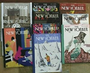 Lot of 10, The New Yorker Magazines – 2020 - 2021