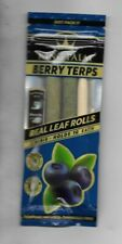 KING PALM 2 PACK SLIM ROLLS BERRY TERPS NATURAL LEAF 100% TOBACCO FREE