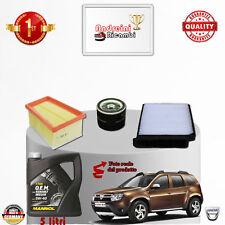 TAGLIANDO FILTRI + OLIO DACIA DUSTER II 1.6 16V LPG 74KW 100CV DAL 2012 ->