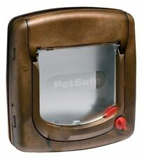 Staywell 4 Way Locking Cat Flap with Tunnel Woodgrain 320efs