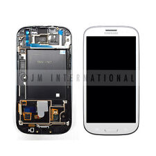 White Samsung Galaxy S3 i747 T999 LCD Touch Screen Digitizer w/ Frame Assembly