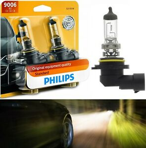 Philips Standard 9006 HB4 55W Two Bulbs Head Light Replace Plug Play Halogen OE